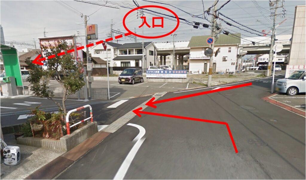 Lucky Parking 泉佐野駅前 入口
